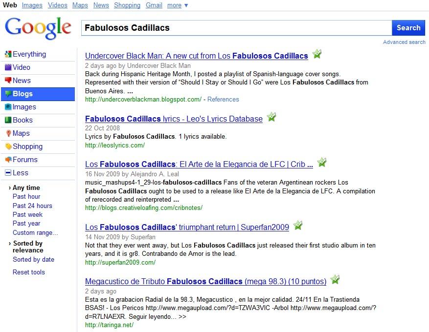 Google, nueva lista de resultados