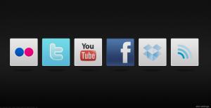 Los iconos en la página de inicio