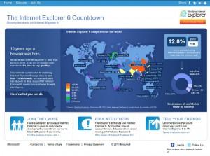 Sitio web de Microsoft para aniquilar el IE6