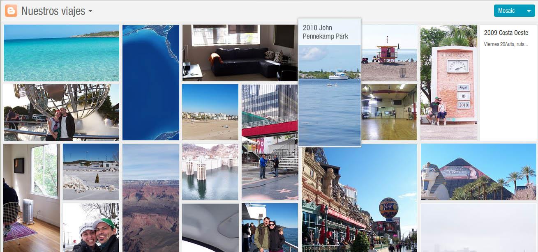 Vista en Mosaico del contenido del blog